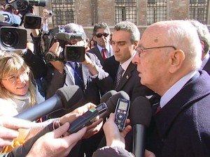 Giorgio Napolitano a Ferrara (foto d'archivio)