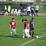 Argentana dopo il gol di Semeraro ad Anzola Emilia
