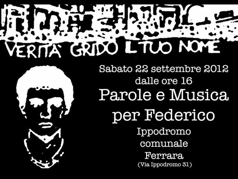'Parole e musica' all'Ippodromo per ricordare Federico Aldrovandi