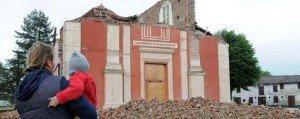 La chiesa di Buonacompra dopo il sisma