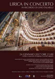 """Al Teatro Comunale """"Lirica in concerto"""", serata benefica di ADO in ricordo di Lino Talmelli"""