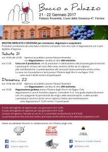'Bacco a palazzo: il vino in visita a Ferrara'. Mostra mercato a Palazzo Roverella