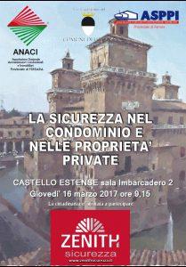 """""""La sicurezza nel condominio e nelle proprietà private"""", un convegno delle associazioni ANACI e ASPPI in Castello"""