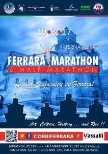 """Con """"Ferrara Marathon & Half Marathon 2017"""" una festa per tutta la città"""