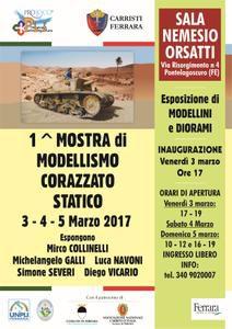 """Dal 3 al 5 marzo alla Sala 'Nemesio Orsatti' di Pontelagoscuro prima mostra di """"Modellismo corazzato statico"""""""