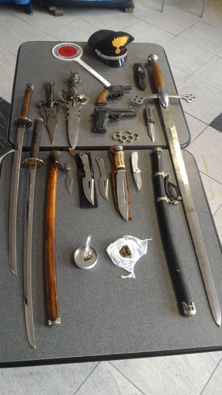 armi sequestrate dai carabinieri