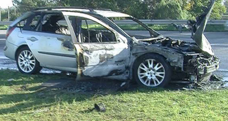 auto incendio incidente