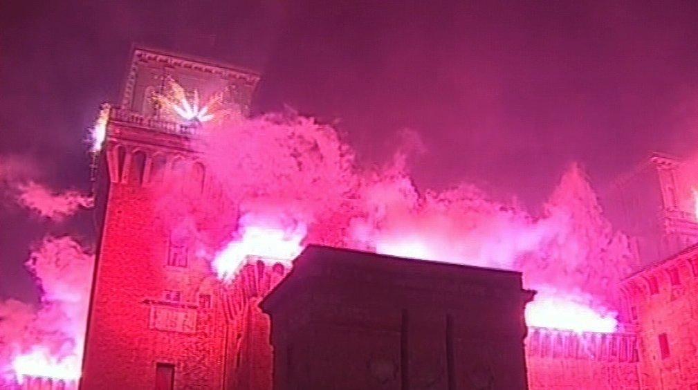 incendio castello
