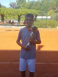 Tennis: Caniato campione regionale U13