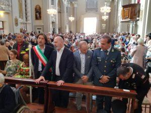 Bonaccini alla celebrazione religiosa riapertura Chiesta San Sebastiano Messa