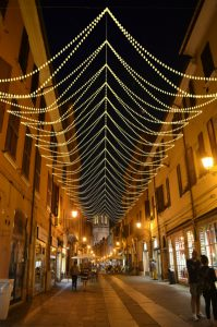 Via Mazzini light luminarie