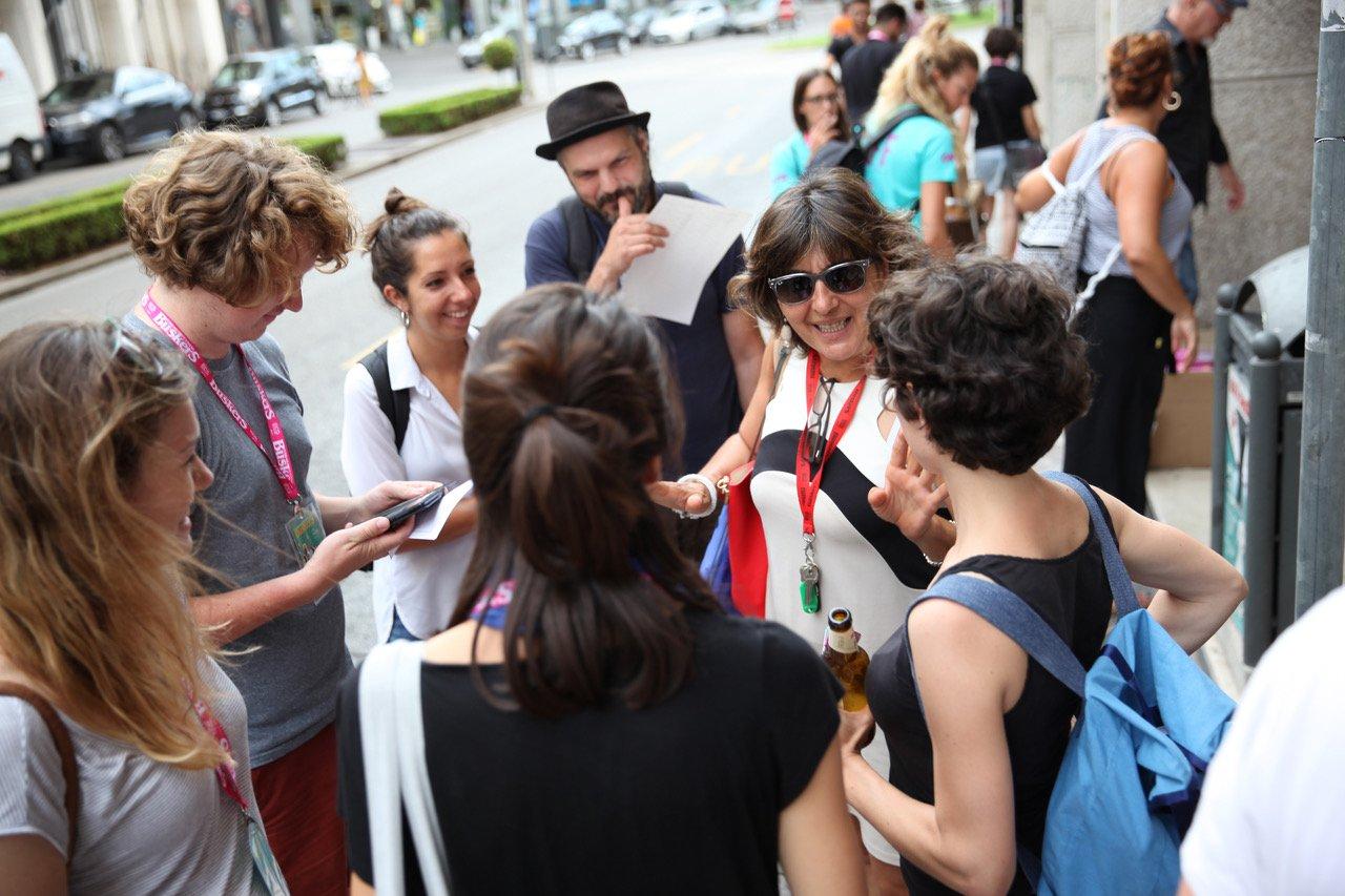Roberta Galeotti con alcuni Musicisti Invitati del Ferrara Buskers Festival (002)