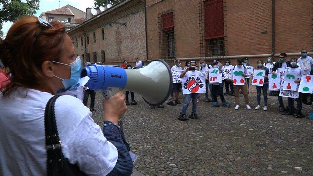 nursing up infermieri protestano prefettura nursing up