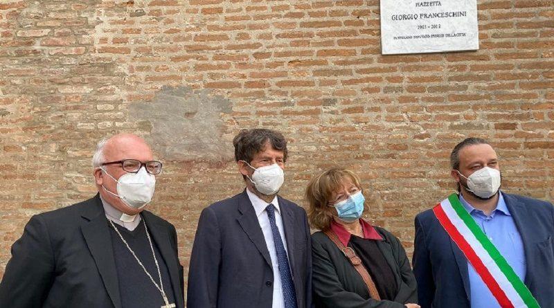 Nel centenario della nascita, una piazzetta a Giorgio Franceschini – VIDEO