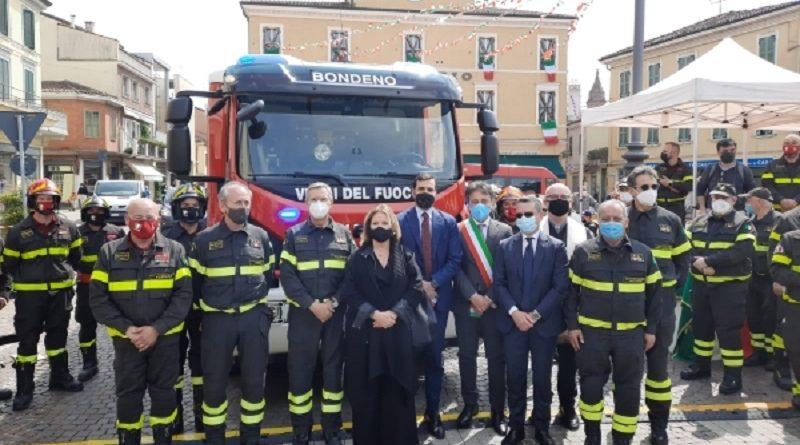 Bondeno: donato un mezzo di soccorso per i Vigili del Fuoco